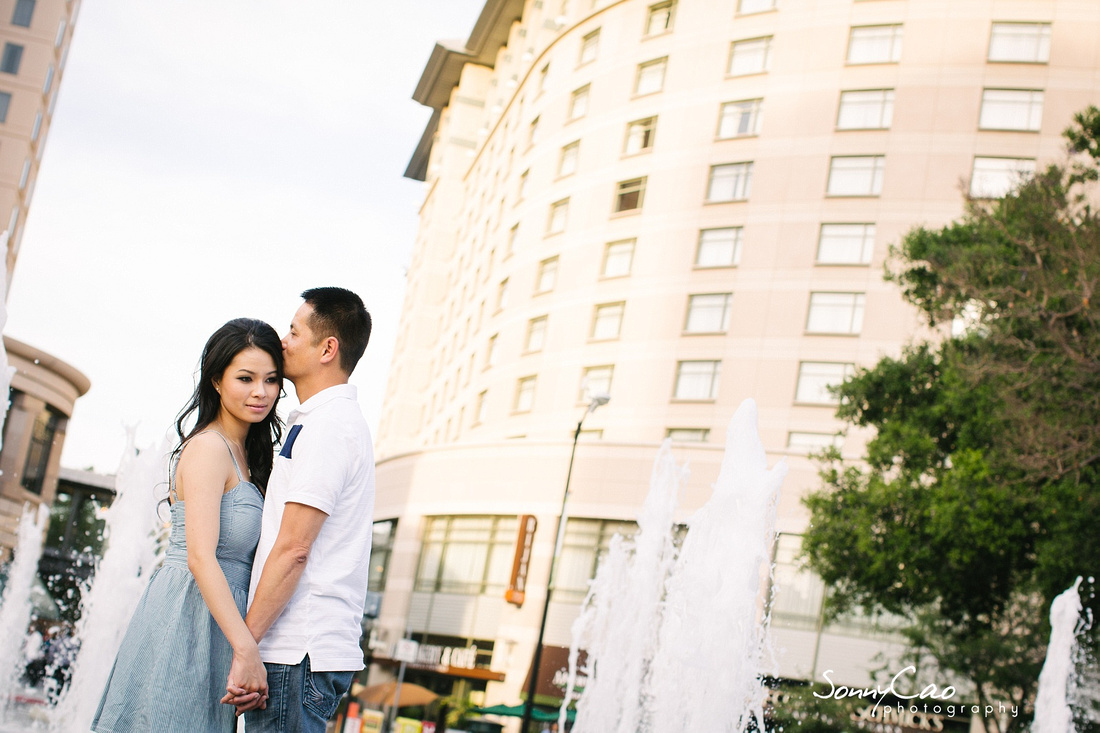 downtown san jose photographer engagement