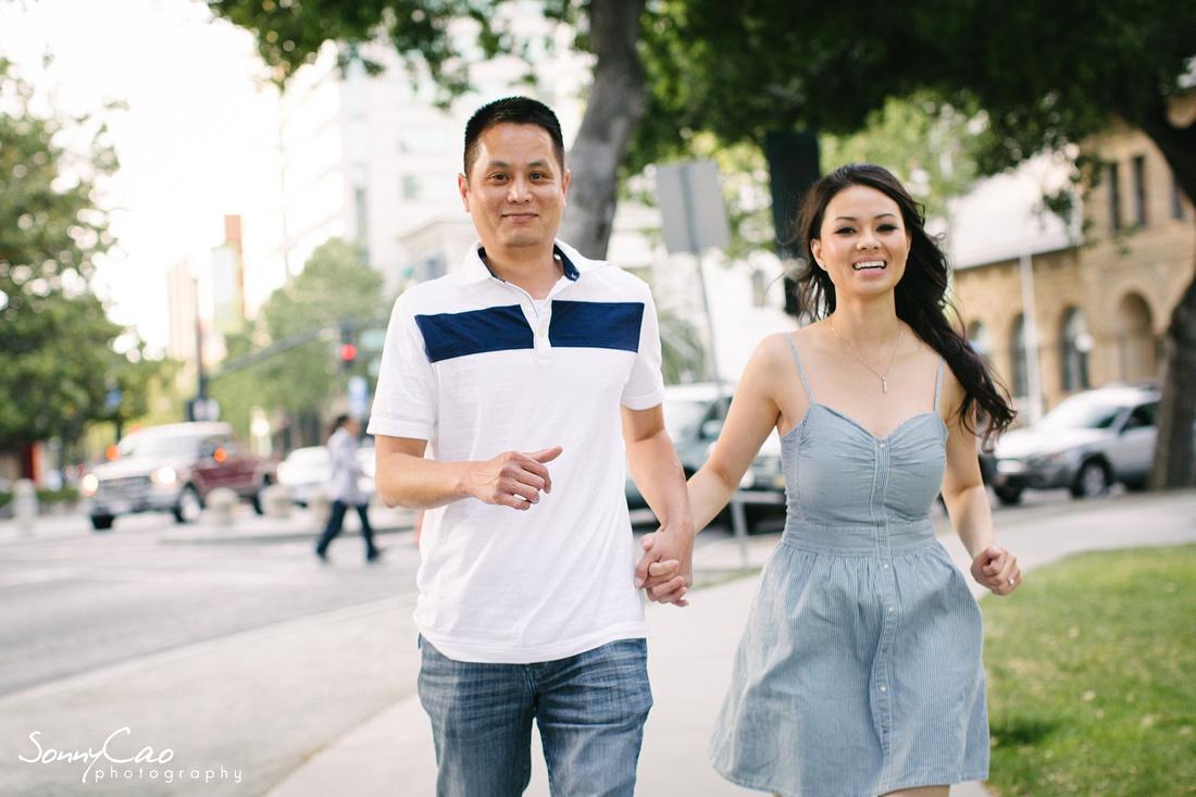 downtown san jose photographer engagement